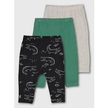 Multicoloured Croc & Stripe Leggings 3 Pack