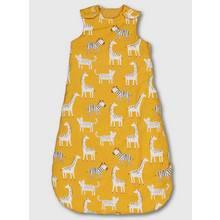 Mustard Yellow Safari Animal Print Sleeping Bag