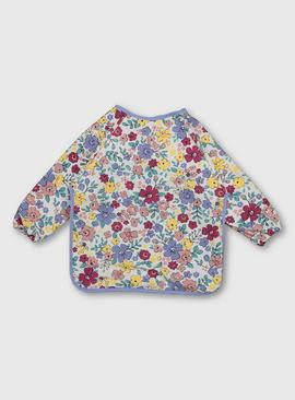Floral Print Long Sleeve Bib - One Size
