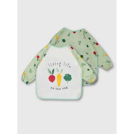 Vegetable Green Long Sleeve Bibs 2 Pack - One Size