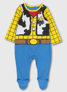Disney Toy Story Woody Blue & Yellow Sleepsuit