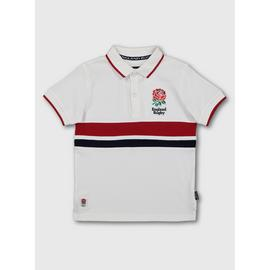 England Rugby White Polo Shirt