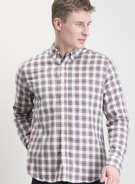 Multicoloured Check Twill Regular Fit Shirt