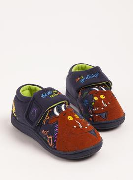 The Gruffalo Navy Embroidered Slippers