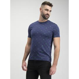 Christmas Navy Festive Tree Print T-Shirt
