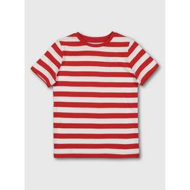 Red & White Stripe Short Sleeve T-Shirt