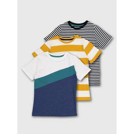 Multicoloured Stripe T-Shirts 3 Pack