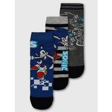 Sonic The Hedgehog Blue Sock 3 Pack
