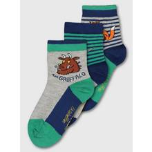 The Gruffalo Green & Blue Stripy Socks 3 Pack