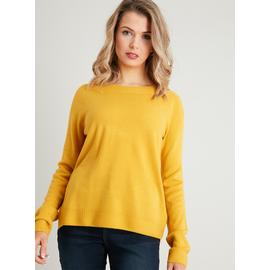 PETITE Mustard Yellow Soft Touch Jumper