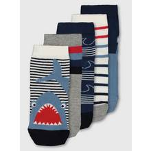 Blue Shark Socks 5 Pack