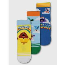 Hey Duggee Yellow & Blue Ankle Sock 3 Pack