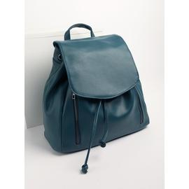 Teal Faux Leather Backpack - One Size