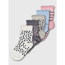 Multicoloured Mark Making Dotty Ankle Socks 5 Pairs