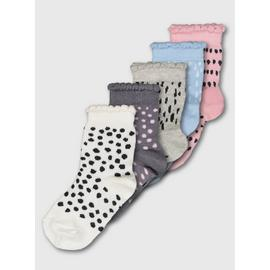 Multicoloured Mark Making Dotty Ankle Socks 5 Pairs