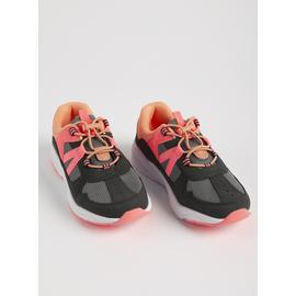 Pink & Grey Toggle Hiker Trainers