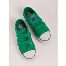 Green Canvas Trainers