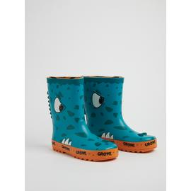 Teal & Orange Monster Wellies