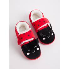 Red Ladybird Cupsole Slippers