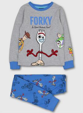 Disney Toy Story 4 Blue & Grey Forky Pyjamas