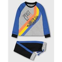 Blue & Black '2 Fast 2 Sleep' Jersey Pyjamas