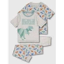 Origami Dinosaur Stripe Snuggle Fit Pyjama 2 Pack