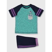 Multicoloured Shark Short Pyjamas