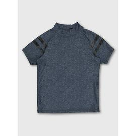Navy Space Dye Rash Vest