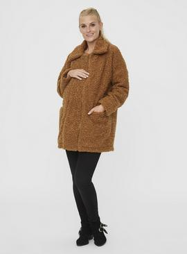 Brown Teddy 2-In-1 Maternity Coat