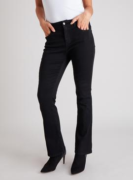 Black Bootcut Jeans With Stretch