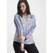 Multicoloured Animal Print Long-Sleeve Blouse