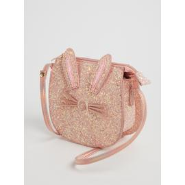 Pink Glitter Bunny Cross-Body Bag - One Size