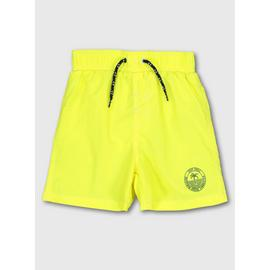 Neon Yellow Woven Swim Shorts
