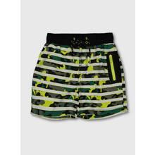 Green Camo Print Swim Shorts