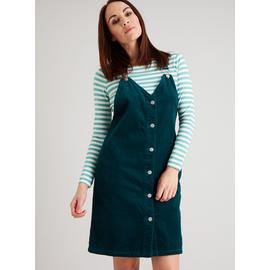 Dark Teal Jumbo Corduroy Pinafore