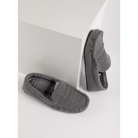 THINSULATE Grey Moccasin Slippers