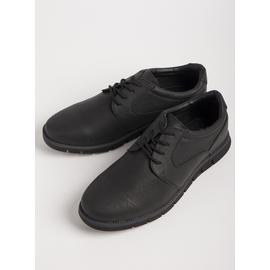 Sole Comfort Black Lace-Up Derby Shoes