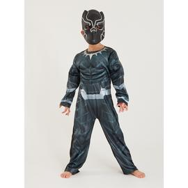 Disney Marvel Black Panther Costume & Mask - 5-6 years