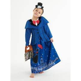Disney Mary Poppins Blue Costume - 5-6 years