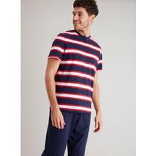 Navy & Red Block Stripe Pyjamas