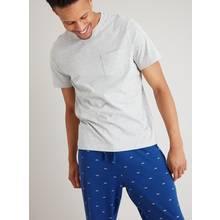 Grey Marl & Blue Shark Print Pyjamas