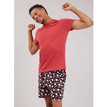 Red Breakfast Print Shortie Pyjamas