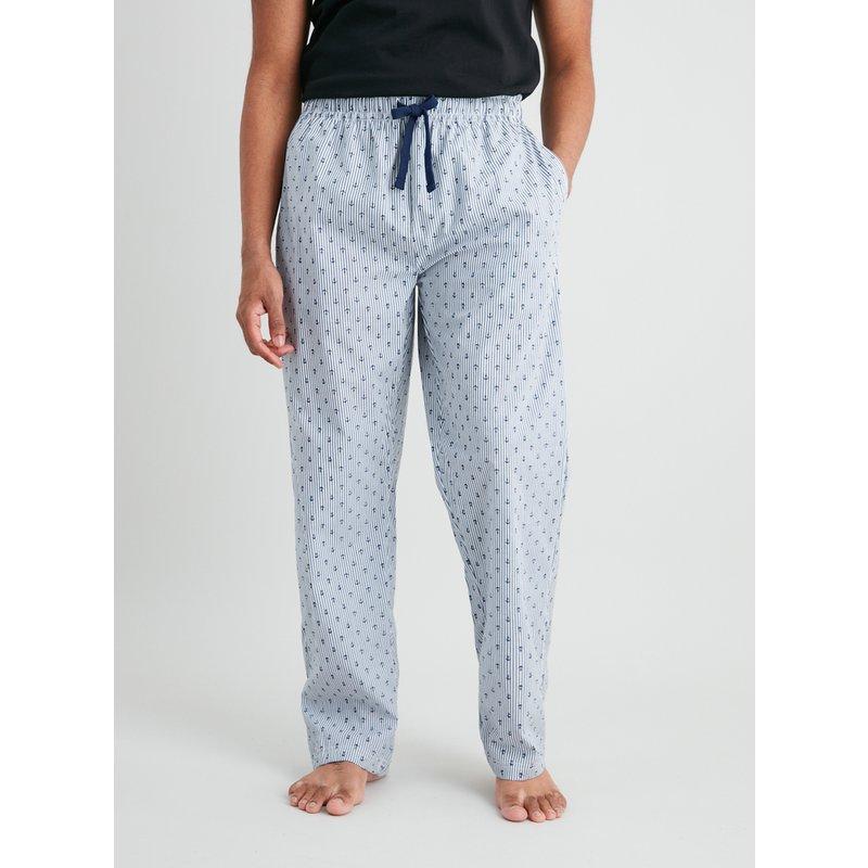 Grey Stripe Anchor Print Pyjama Bottoms from Argos