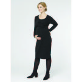 Black Glitter Bodycon Maternity Dress