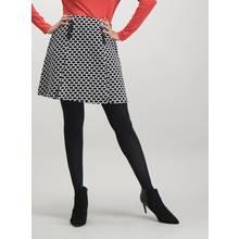 Monochrome Oval Pattern Skirt