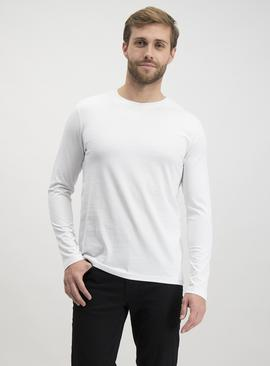 White Plain Long Sleeve T-Shirt