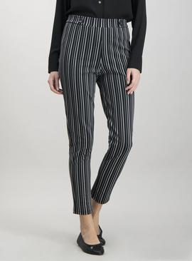Monochrome Pinstripe Trousers