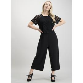 PETITE Black Double Layer Lace Jumpsuit