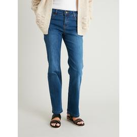 PETITE Midwash Denim Straight Leg Jeans