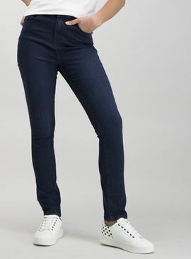 Dark Denim Blue Slim Fit Jeans With Stretch